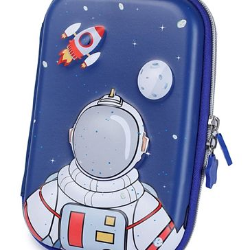Webby Astronaut Printed Hard Top EVA Pencil Pouch - Blue Online in India, Buy at Best Price from Firstcry.com - 3459593