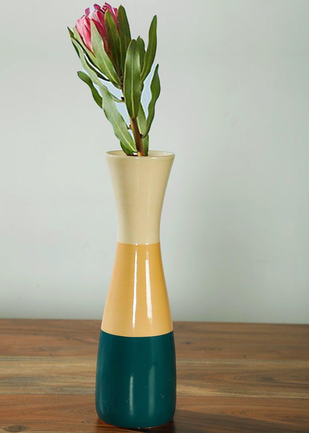 Multi-Colored Ceramic Vase - Freedom Tree Design