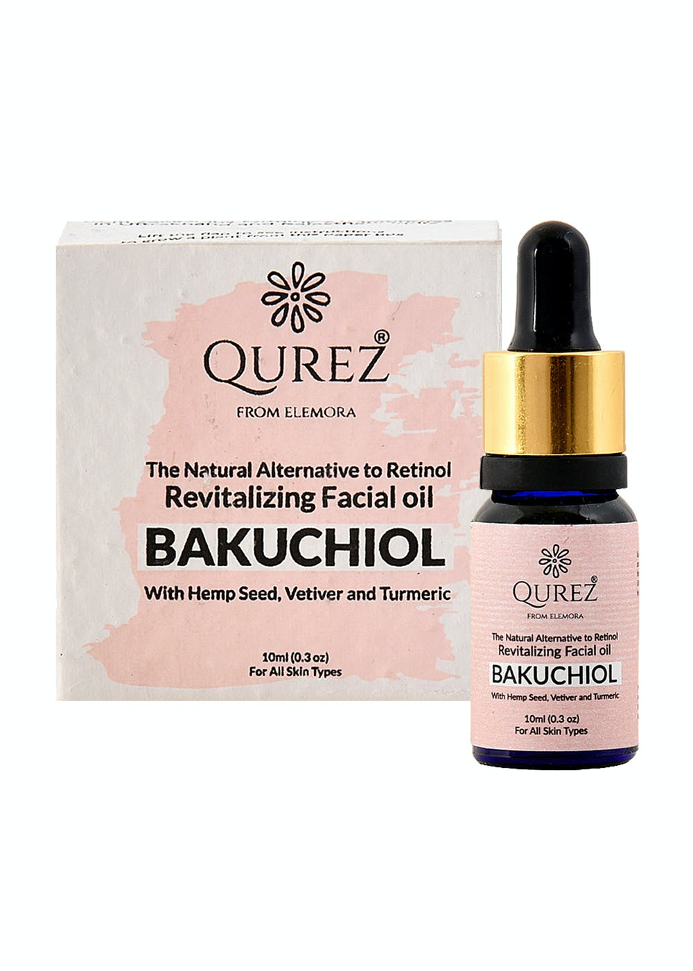 Bakuchiol - Revitalizing Facial oil with Hemp Seed, Vetiver and Turmeric (10ml)
