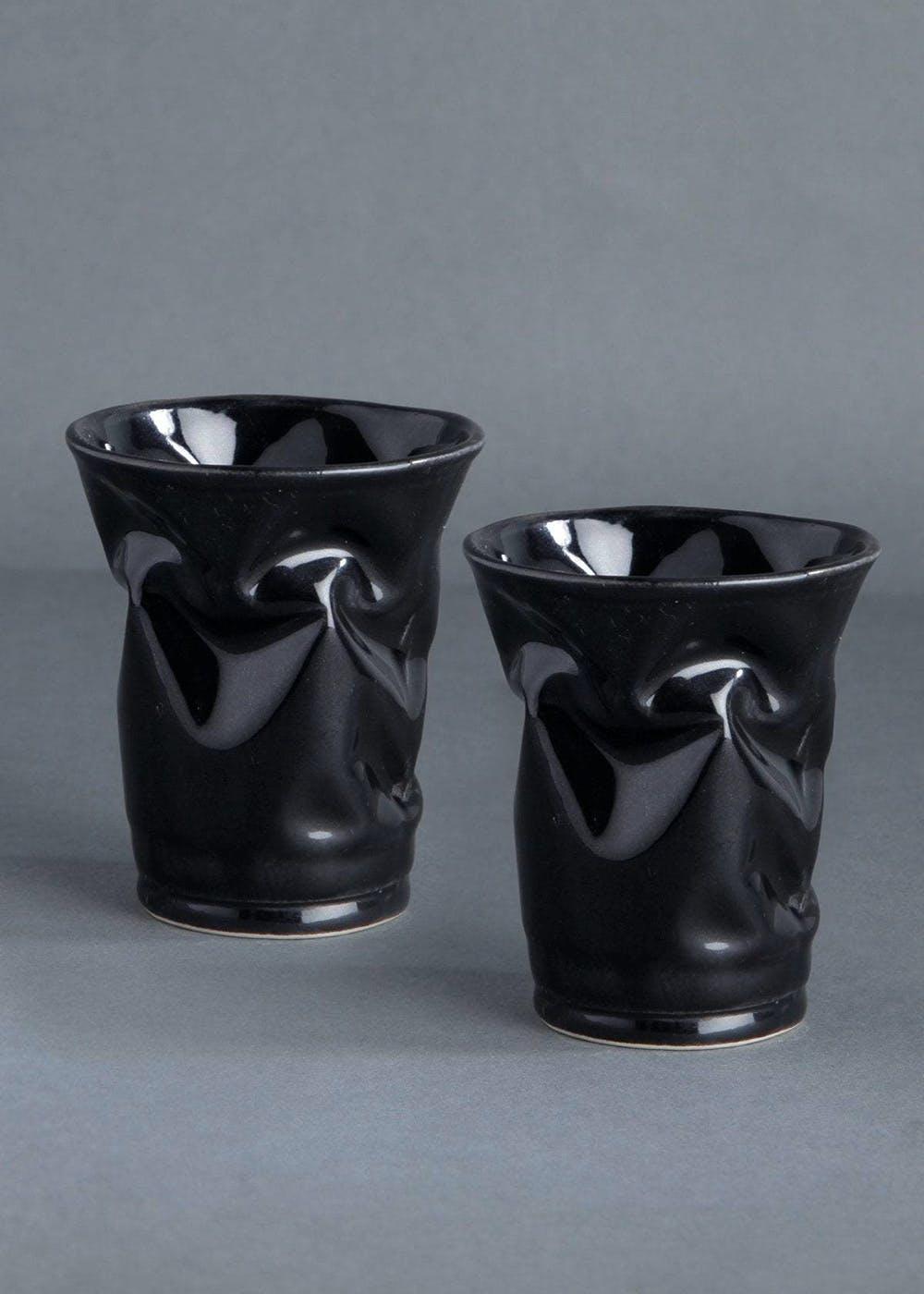 Black Crush Glass (Set of 2)