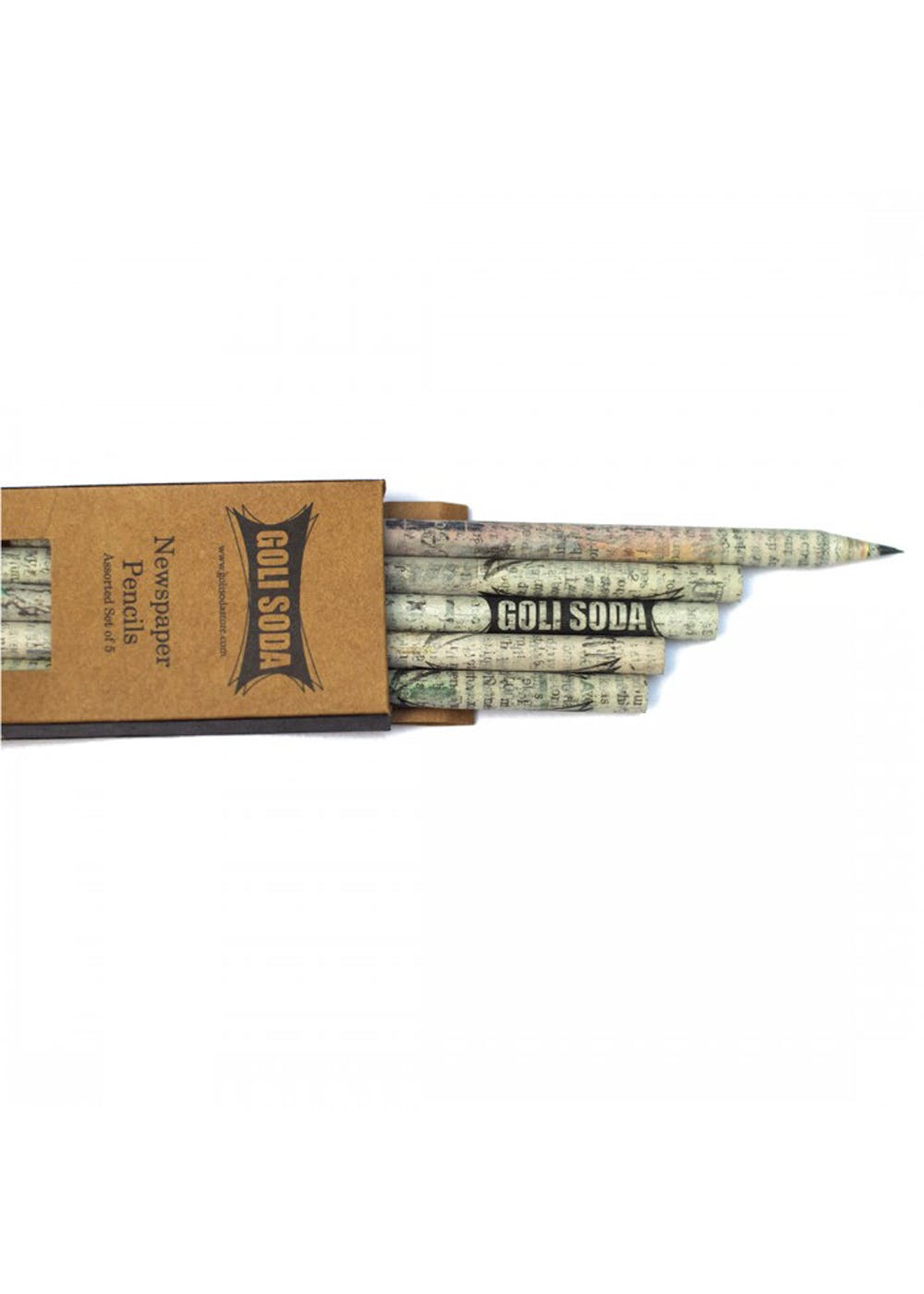 Upcycled Plain Newspaper Pencils - Goli Soda