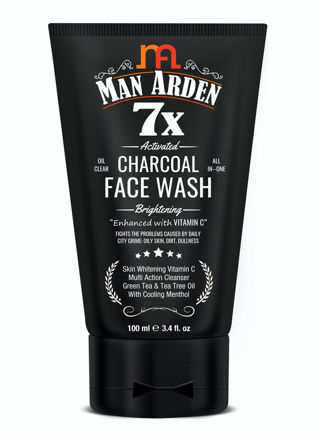 7X Activated Charcoal Face Wash Brightening - 100ml