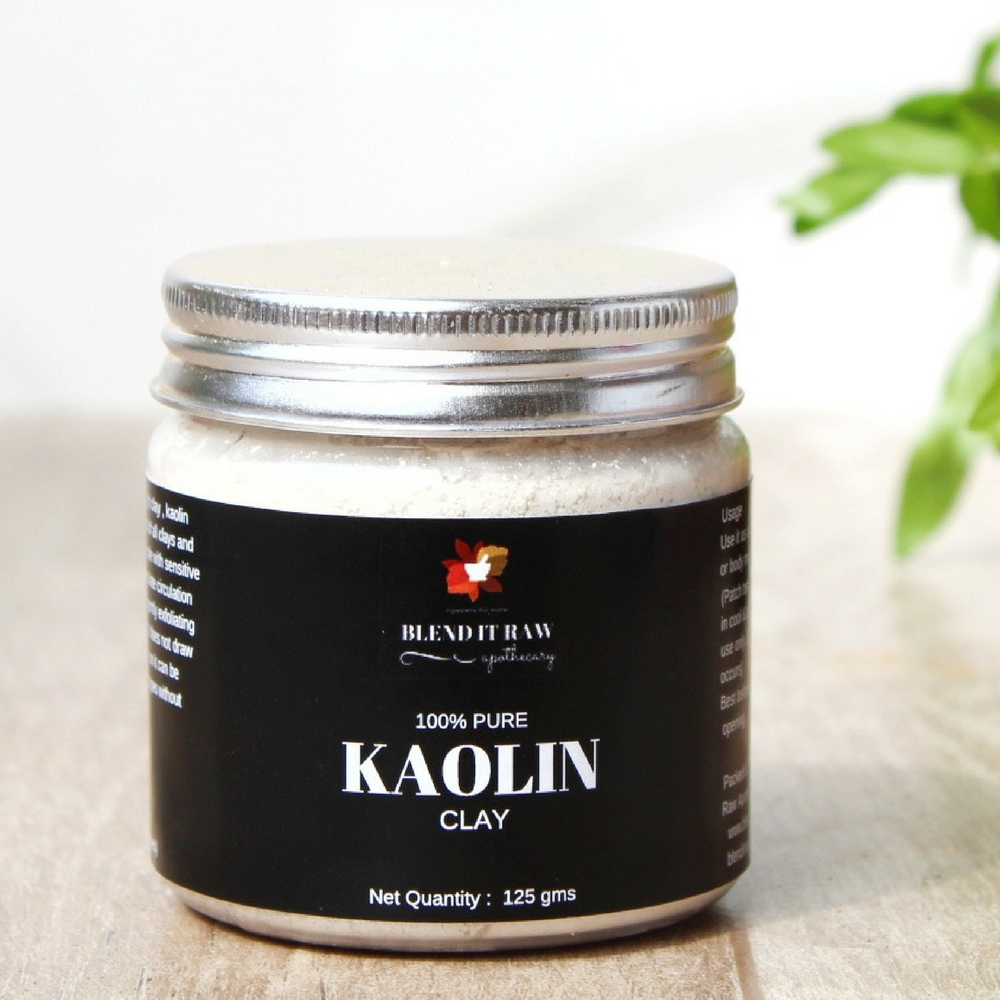 Kaolin Clay, 125g [All Natural, Off-White Kaolin Clay Powder] - Blend It Raw Apothecary
